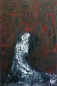 Die verlorene Jungfräulichkeit, Öl / Leinwand 2019, 120 x 90 cm