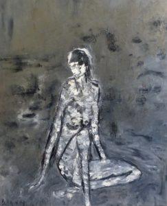 Die Abende des Augenblicks, Öl / Leinwand 2019, 110 x 90 cm
