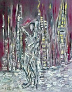 Die Entfesselte, Öl / Leinwand 2016, 100 x 80 cm