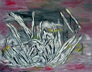 Der Reiter der Apokalypse, Öl / Leinwand 2017, 80 x 100 cm