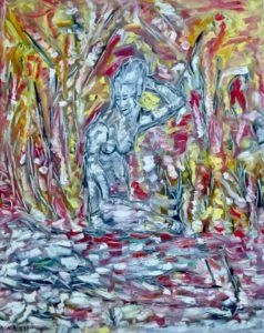 Die milde Erbauerin, Öl / Leinwand 2017, 100 x 80 cm