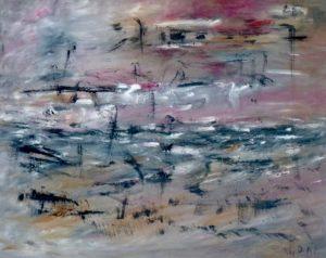 Der Umbruch der Gezeiten, Öl / Leinwand 2016, 80 x 100 cm