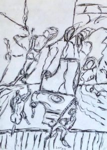 Der Lebensklang, Zeichenkohle 2014