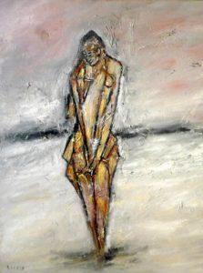 Die Schale des Seins, Öl / Leinwand 2020, 100 x 80 cm