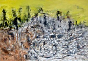 Im Herzen der ewigen Welt, Öl / Leinwand 2019, 100 x 70 cm