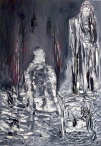 Die Quelle des Endlosen, Öl / Leinwand 2019, 100 x 70 cm