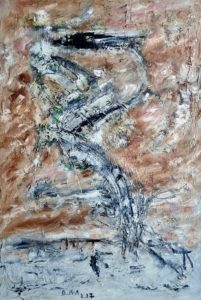 Die Jakobsleiter, Öl / Hartfaser 2017, 69 x 47 cm