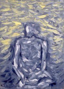 Im Einklang mit meiner Ruhe, Öl / Leinwand 2019, 70 x 50 cm